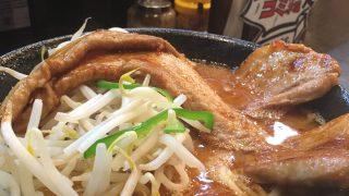 ガツ盛り辛味噌肉豚骨ラーメン:作田家