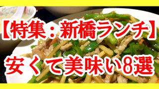 【特集:新橋ランチ】安く美味い8選 2019